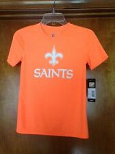 Nfl New Orleans Saints T-Shirt Size Youth Small (8) Orange Nwt Fast Shipping