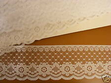 Flat Lace  White - 65mm wide  10 mts (204)