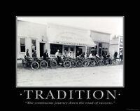 Harley Davidson Motorcycle Dealership Motivational Poster Print Office Artwork