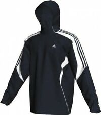 NEW ADIDAS DRIVE TRACK RUNNNG TRAINING JACKET M MEDIUM MED NAVY BLUE WHITE