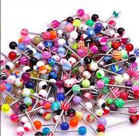Lot 51x Tongue Bars Wholesale Body Piercing Jewellery Body Jewellery