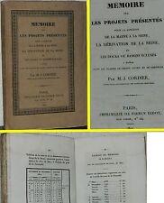 MÉMOIRE SUR LES PROJETS PRÉSENTÉS POUR LA JONCTION SEINE/MARNE 1827 M.J.CORDIER