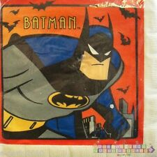 BATMAN the ANIMATED SERIES LUNCH NAPKINS (16) ~ Birthday Party Supplies Large