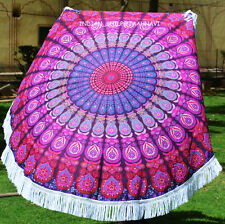 100% Cotton Mandala Gypsy Bohemian Round New Tapestry Tablecloth Beach Bedspread