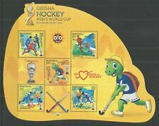 INDIA 2018 MEN'S HOCKEY WORLD CUP MINISHEET  UM/M NH LOT L646