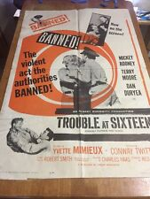 trouble at sixteen 1961 movie poster
