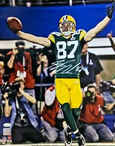 Packers Receiver JORDY NELSON Signed 16x20 Photo AUTO #13 - SB XLV Champ - JSA