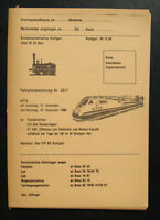 Fahrplananodnung Nr. 2317 ET 420, Käthchen Neckar-Expreß Stuttgart 1985 Fahrplan