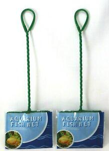 FISH NET Aquarium Set of 2 x Tank Nets size 12 x 10cm
