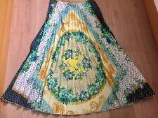 Designer MSGM pleated retro scarf print skirt IT40 S UK 8 10 US 4 6 *altered*