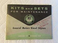 Vintage General Motors Diesel Series 71 110 * GM * Kits and Sets for Maintenance