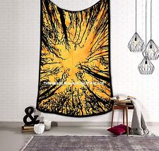 Jungle Life Tree Wall Hanging Hippie Indian Tapestry Cotton Bedspread Throw Dorm