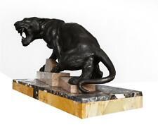 Panthère en régule années 1930 Art déco socle marbre