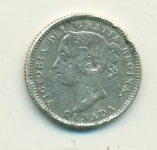 Canada 10 cents 1887 Very Fine Detail Many Marks