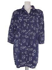 crazy wool blusa lunga donna blu floreale manica 3/4 made italy taglia l large