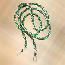 NEW Mint Green & White Glass Seed Bead Beaded Glasses / Sunglasses Chain Strap