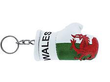 Keychain Mini boxing gloves key chain ring flag key ring cute wales welsh