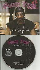 SNOOP DOGG Ups and Downs 3 REX w/ 2 RARE RADIO vers UK PROMO DJ CD Single doggy