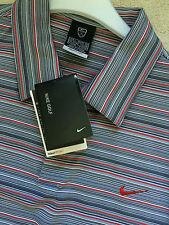 NIKE FITDRY MENS GOLF POLO SHIRT Multi Stripe - size: L Height: 183 , 42/44