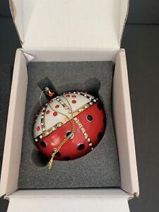 Alessi Re Coccinello Christmas Ornament Boxed MJ16