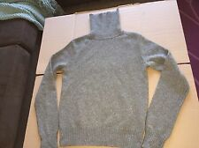 Ralph Lauren Blue Label Thick Wool Cashmere Sweater Turtleneck Gray