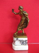 Georges Morin Göttin Hebe Nude Nackte Bronze Figur Akt Art Deco