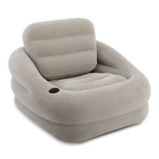 INTEX Lounge Couch Sessel Accent Camping Luftbett Fernsehsessel Grau