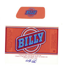 Billy Beer Label