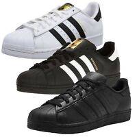 New Adidas Originals Superstar Leather Mens Casual Trainer Shoes ✅