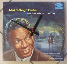 NAT 'KING' COLE- ALBUM CLOCK!***MAKES A GREAT GIFT!**FREE SHIPPING!