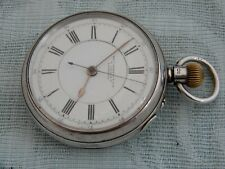 Large Silver 1900 C/Seconds Chronograph Pocket watch, T.Russell, Liverpool