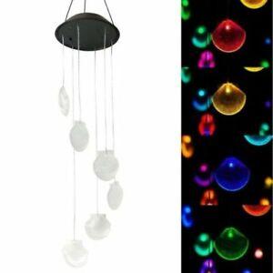 Neu Solar LED Windspiel Muschel Windspiele für den Garten Dekor DE DHL