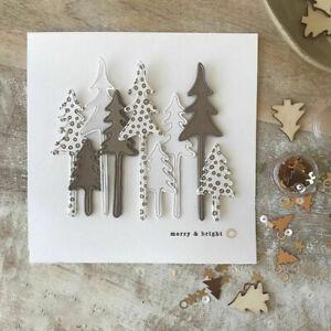 Xmas Tree Cutting Dies Stencil DIY Scrapbooking Paper Card Embossing Halloween