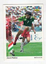 figurina card - CALCIATORI WORLD CUP 94 UPPER DECK  - N. 185 MESSICO PATINO