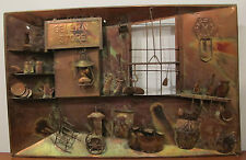 Vintage Copper Picture Plaque Wall Art From 60's-70's General Store