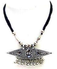 Silver Oxidize Imitation Necklace Pendant Choker Collar Long String Jewelry 8106