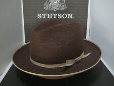 STETSON STRATOLINER SPECIAL EDITION BROWN C-CROWN DRESS HEMP STRAW HAT