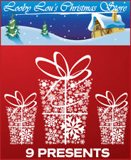 PRESENT X9  CHRISTMAS WINDOW STICKERS - WINDOW CLINGS