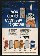 1979 ZIPPO CIGARETTE LIGHTER AD~CHRISTMAS~RUDOLPH THE REDNOSED REINDEER
