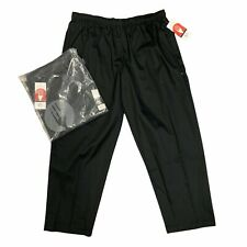 Lot 2 Chef Works Cook Pants Mens Size 4xl Black Essential Baggy Drawstring Tie
