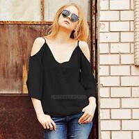 Fashion Women Summer Chiffon T-Shirt Casual Solid Blouse T Shirt Tops Clothes