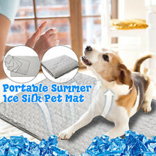 Dog Cooling Mat Pet Cat Chilly Soft Ice Silk Summer Cool Bed Pad Cushion