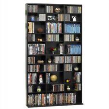 """Atlantic Inc Oskar 72"""" Triple Slim Multimedia Storage Rack in Espresso"""