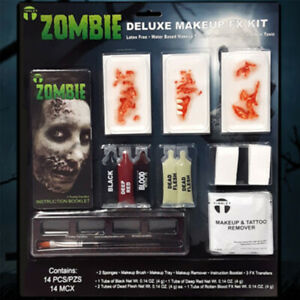Tinsley Transfers Deluxe Makeup Kit - Zombie, Special Effects Halloween Costume