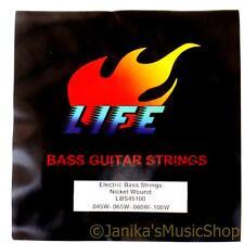 Medium gauge electric bass guitar string set 4 strings nickel wound size 045-100