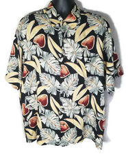 Munsingwear Mens XL Hawaiian Fruit Floral Casual Short Sleeve Shirt