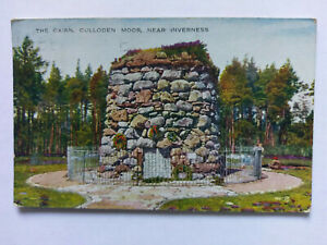 Culloden Moor, Inverness Vintage colour Postcard 1935 The Cairn