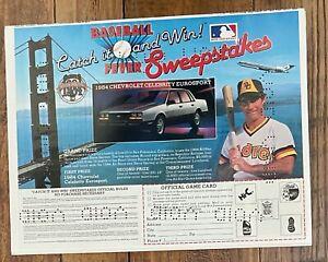 "Steve Garvey of Padres 1984 Sweepstakes newspaper proof  ad 9"" x 11 1/4"""
