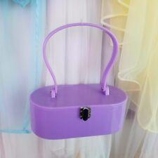 Lilac vintage inspired lucite style box purse handbag