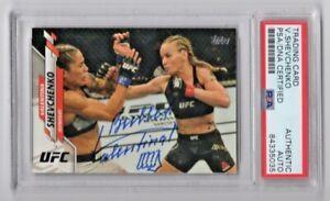 2020 Topps UFC Valentina Shevchenko Signed Auto Trading Card #14 PSA/DNA